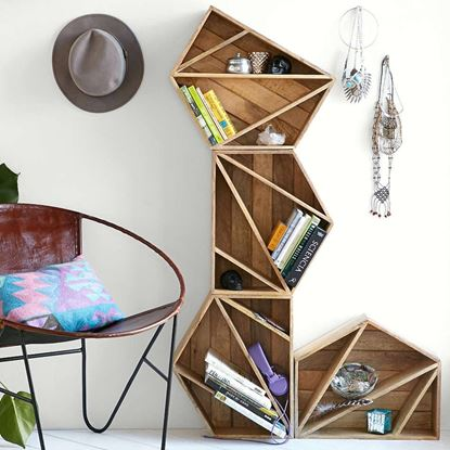 Picture of Geometric Design Shelf by Wooden Mood